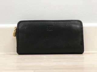 100% Authentic Loewe Zip Around Leather Wallet