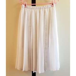 日本Cecil Mcbee 白色百摺裙
