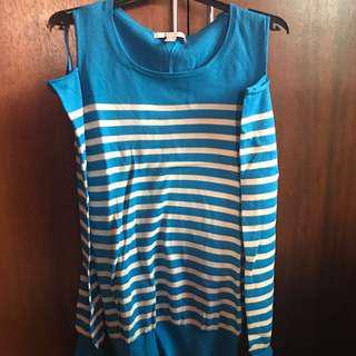 Esprit Blue Cold Shoulder Long Sleeve