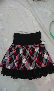 🚚 格紋蝴蝶結短裙