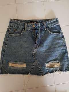 MDS Jean skirt