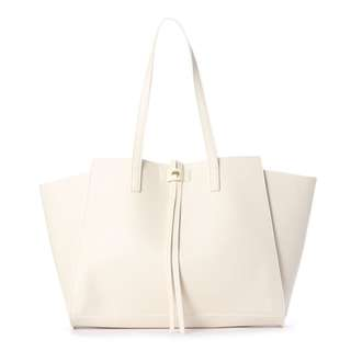 736fce1ca72 Japan Samantha Thavasa Colors   Chouette Long Ribbon Eco Leather Tote Bag  (Off White)