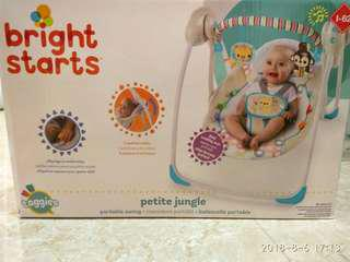 Bright Starts Petite Jungle Portable Swing + free gift