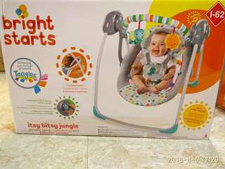 Bright Starts Itsy Bitsy Jungle Portable Swing + free gift