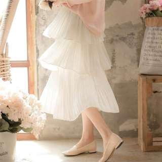 🚚 高腰蛋糕裙 A字裙 白色 全新未穿 #九月女裝半價