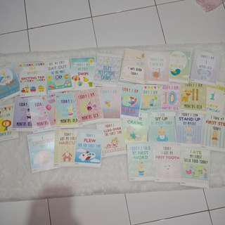 30 baby millestone cards / kartu selfie bayi / baby cards