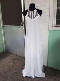 Coco Cabaña White Maxi dress