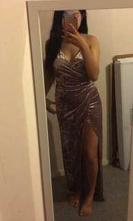 Velvet Maxi Ball dress