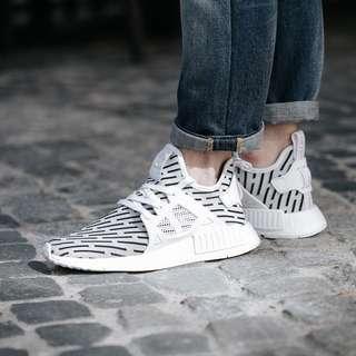 (PO) Adidas Mens NMD XR1 Primeknit White Zebra
