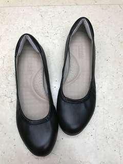 Florsheim black leather flats shoes 黑色真皮健康鞋