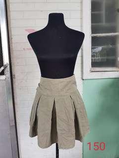 High Waist Gray Skirt