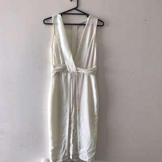 Maurie eve white midi dress size 8