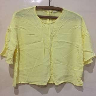 Sunshine Yellow Cropped Top