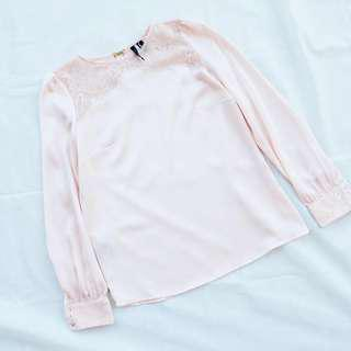 NEW MANGO Pink Long Sleeve