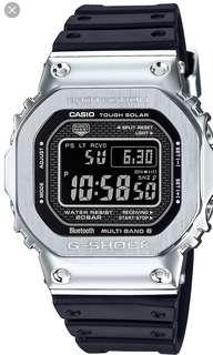 Casio G-shock 35th Anniversary Gmw-b5000-1jf Metal Silver Rubber Resin Strap