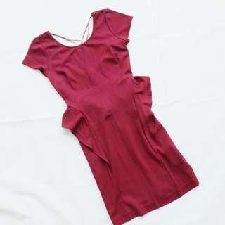 ZARA Red Maroon Dress