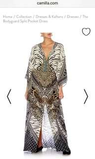 Camilla Dress-MEDIUM SIZE- THE BODYGUARD SPLIT POCKET DRESS