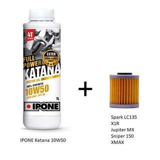 IPONE Katana 10w50 + Oil filter (cash & carry)