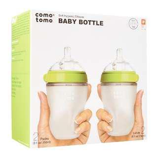 Comotomo Soft Hygenic Silicone Baby Bottle 3m+ Twin Set