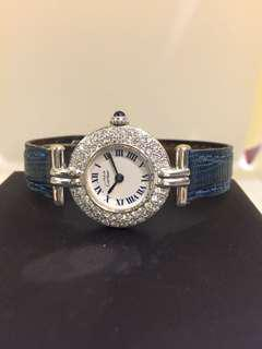 🚚 (SOLD) Cartier vintage classy watch with diamonds