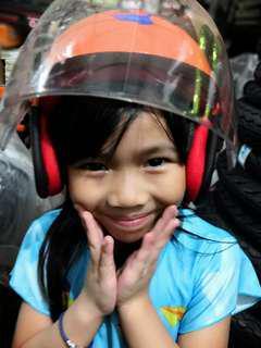 Kid Helmet topi keledar kanak budak sekolah orange cartoon bear