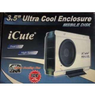 iCute Ultra Cool IDE HDD Hard Disk Drive External Enclosure Mobile Portable disk with Cooling