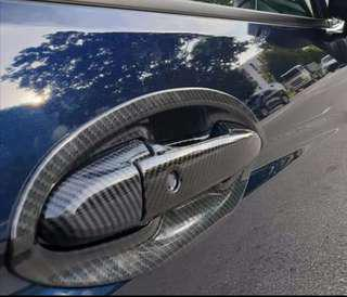 Honda shuttle door handle cover and insert (carbon fiber)