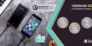 Verbatim新款勁快充電池🔋10000mAh PD+QC3.0😱