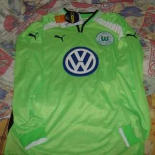2001/02 禾夫斯堡 Wolfsburg 主場 home long-sleeves jersey 長袖球衣 XL
