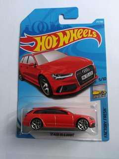 2018 Hot Wheels '17 Audi RS 6 Avant (Red)