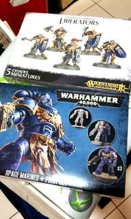 Warhammer 2 boxes - Liberators and Space Marines
