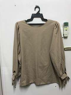 Nude Ribbon Blouse