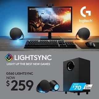 Logitech G560 Lightsync Gaming Speakers