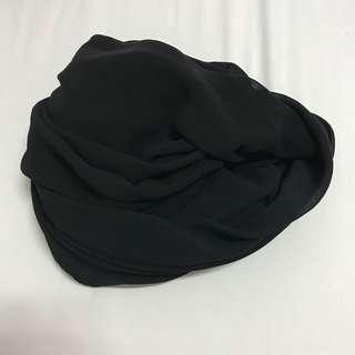 Black Chiffon Shawl