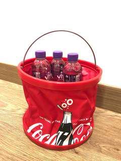 Coca Cola Portable Water Bucket 可樂便攜式冰桶連袋