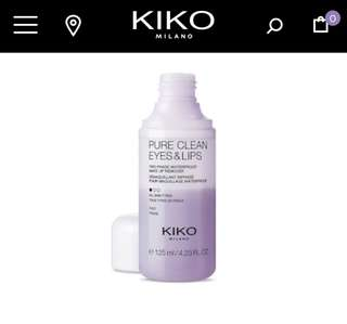 [Half Price] Kiko Milano Pure Clean Eye and Lip - Mild Cleansing Water