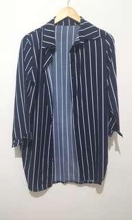 Shirt dress navy stripes