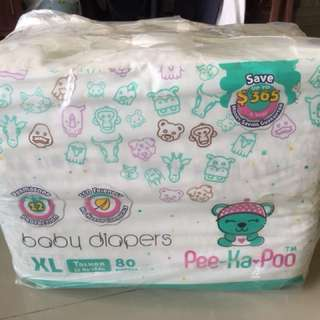 Pee-ka-poo XL tape diapers (12-18kg)