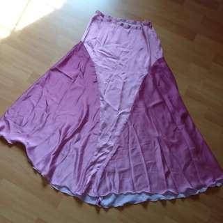 Pink Silky long skirt #Fashion100