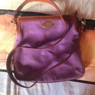 celine canvas sling bag