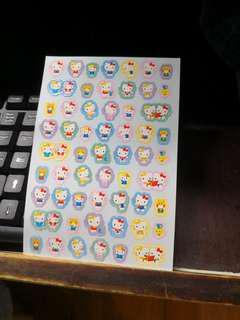 (包郵) Hello Kitty 貼紙