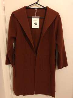 Coat w/ hoodie