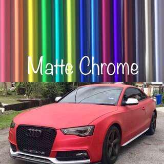 Car Wrap Matte Chrome