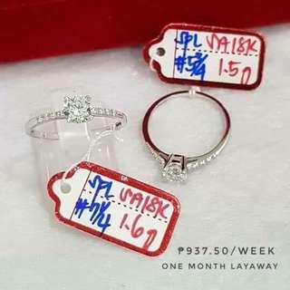 Engagement Ring 18K 1.5G