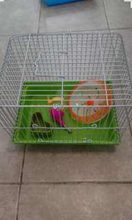 🚚 二手鼠籠  附食盆 滾輪 水瓶