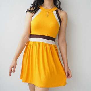 #merdeka73 HALTERNECK YELLOW DRESS