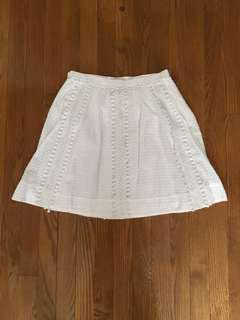 Jcrew white skirt