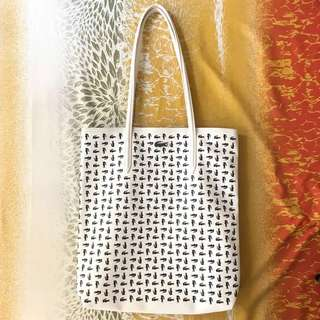 Lacoste White Tote Bag Long Handle LASTPRICE!