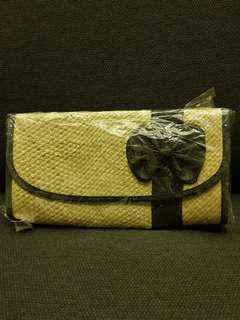 Bamboo straw clutch Bag