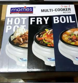 New Morries Multi Cooker 3 in 1 MS 1388